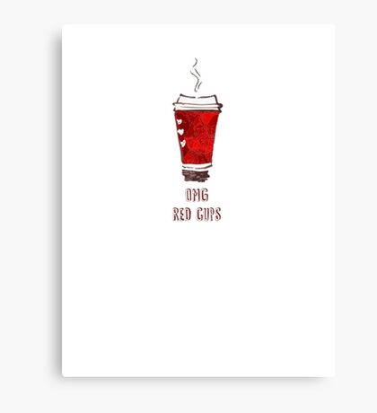 OMG RED CUPS Canvas Print
