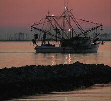 Shrimp Boat at Twilight by Jonicool