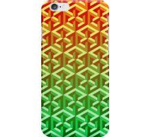 Penrose Cube Stack - Yellow Green iPhone Case/Skin
