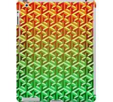 Penrose Cube Stack - Yellow Green iPad Case/Skin