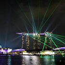 Singapore laser show by Robyn Lakeman