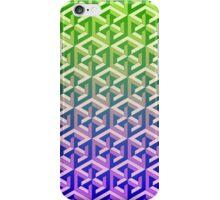 Penrose Cube Stack - Green Purple iPhone Case/Skin