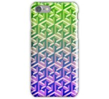Penrose Cube Stack - Green Purple iPhone Case/Skin