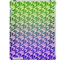 Penrose Cube Stack - Green Purple iPad Case/Skin