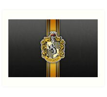 Hufflepuff Ribbon Art Print