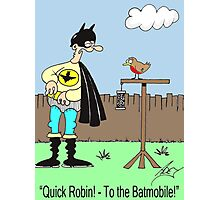 batman and robin redbreast Photographic Print