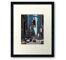 Green Light on Broadway Framed Print