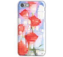 Red and White Flowers iPhone Case/Skin