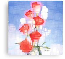 Red and White Flowers Canvas Print