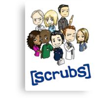Scrubs Cartoon Canvas Print