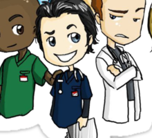 Scrubs Cartoon Sticker