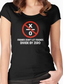 Friends Don't Divide by Zero Women's Fitted Scoop T-Shirt