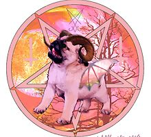 pink pugtagram by darklordpug