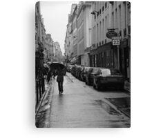 Woman in the Rain, Rue Jacob Canvas Print