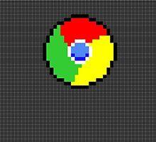 Google Chrome Pixel Art by VideoGameMaster