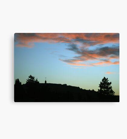 Peaceful Sunset over Laferla Cross  Canvas Print