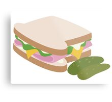 Ham Sandwich Metal Print