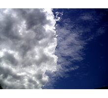 Ive looked at clouds from both sides now Photographic Print