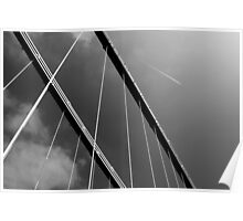 Suspension Bridge Flyover Poster