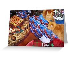 Cats at Christmas Greeting Card