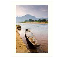 Boat & Landscape Art Print