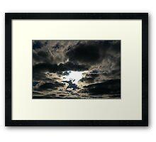 Silver Skies Framed Print