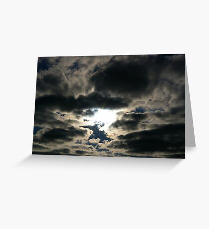 Silver Skies Greeting Card