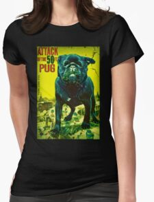 50 ft pug Womens Fitted T-Shirt