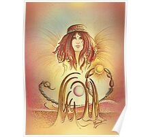 """""""THE SCORPIO"""" - Protective Angel for Zodiac Sign Poster"""