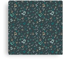 Music pattern Canvas Print
