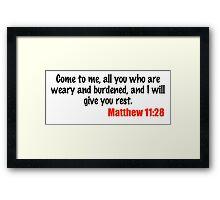 Matthew 11:28 Framed Print
