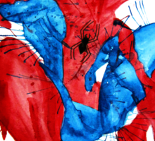 Spider-Man Watercolor Splash Sticker