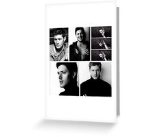 Jensen Ackles + Black & White = Blackles Greeting Card
