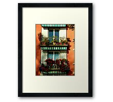 Pretty Swiss Window Box Framed Print