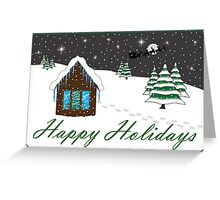 Happy Holidays Card green Greeting Card