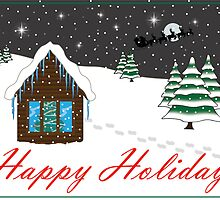 Happy Holidays Card red by BiGPaPa