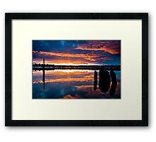 Mill Park Sunset Framed Print