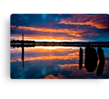 Mill Park Sunset Canvas Print