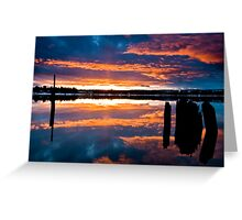 Mill Park Sunset Greeting Card