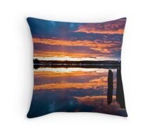 Mill Park Sunset Throw Pillow