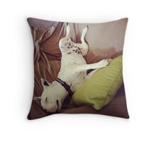 The yoga instructor Throw Pillow