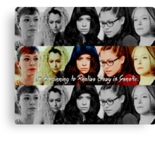 Crazy is Genetic, Orphan Black Canvas Print
