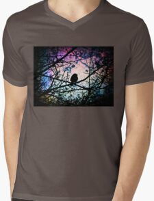 Stain Glass Bird Mens V-Neck T-Shirt
