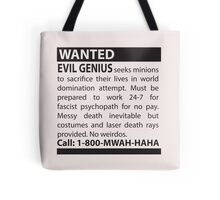 Minions Wanted Tote Bag