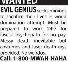 Minions Wanted by geekerymade