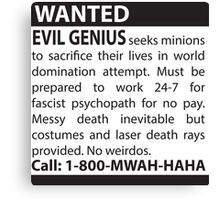 Minions Wanted Canvas Print