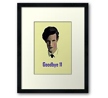 Tribute to Matt Smith's Doctor Framed Print