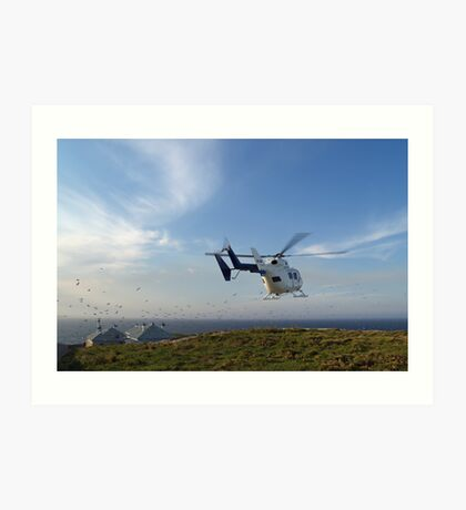 Helicopter Island Art Print