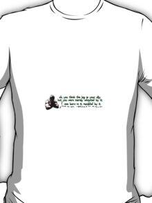 Bane - Side PC Sticker T-Shirt