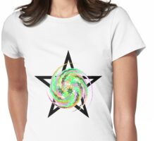 Star Flake Womens Fitted T-Shirt
